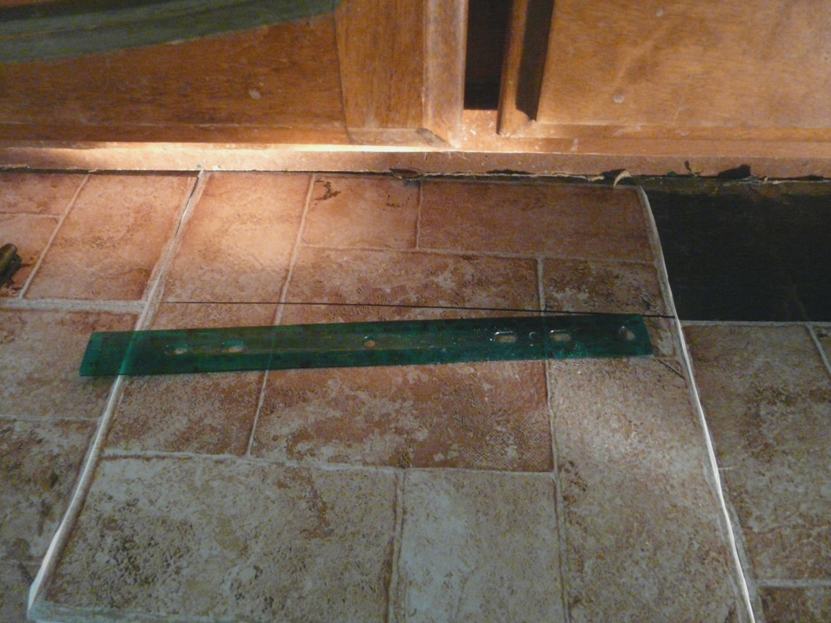 Measuring tiles for cutting