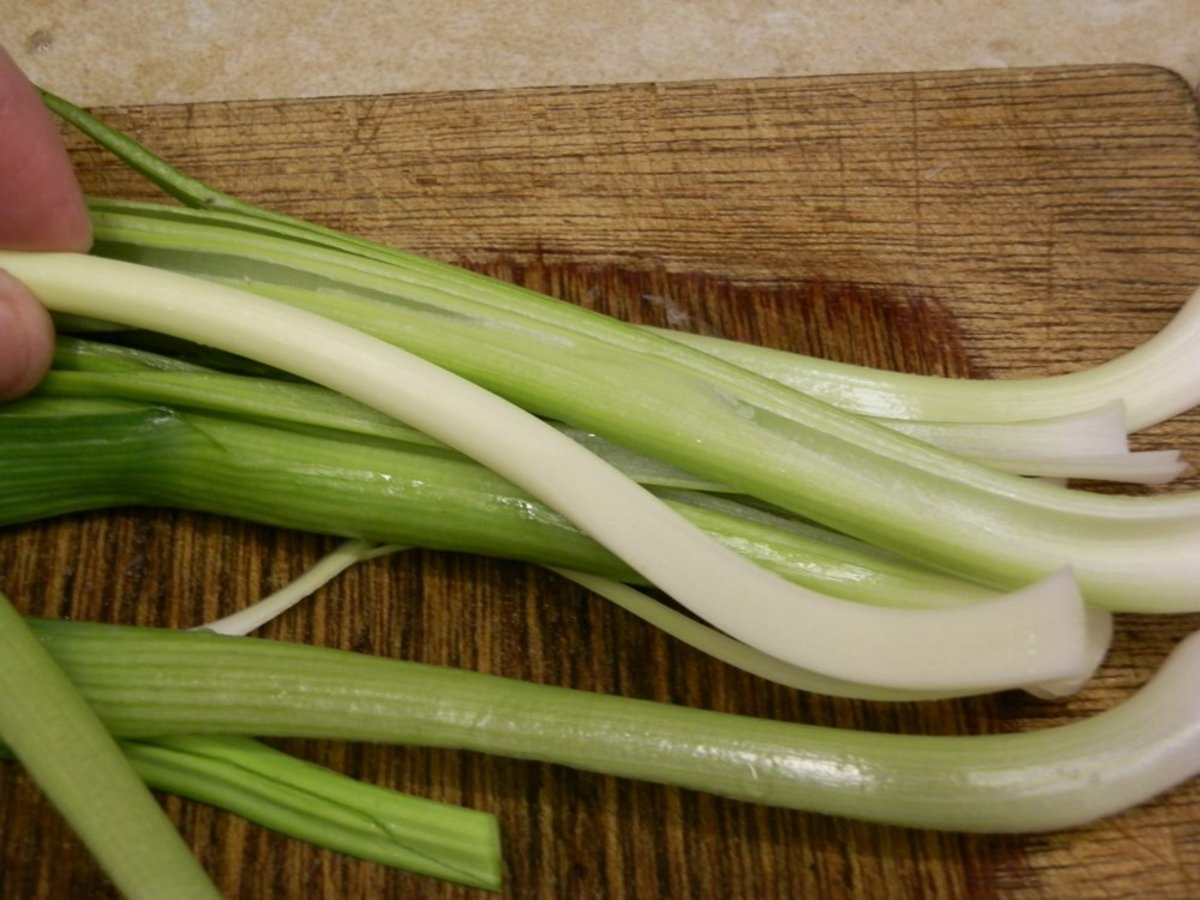 The core of the leek is easily removed.