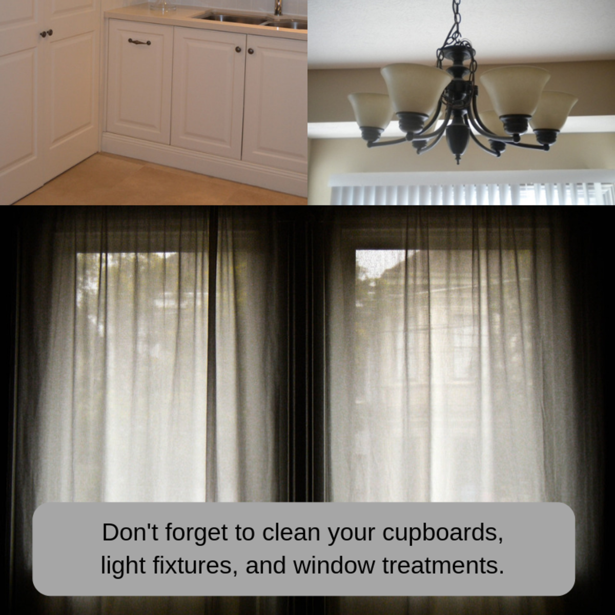 Even things like light fixtures and window treatments can absorb odors, so make sure to clean all the furnishings and furniture in your house.