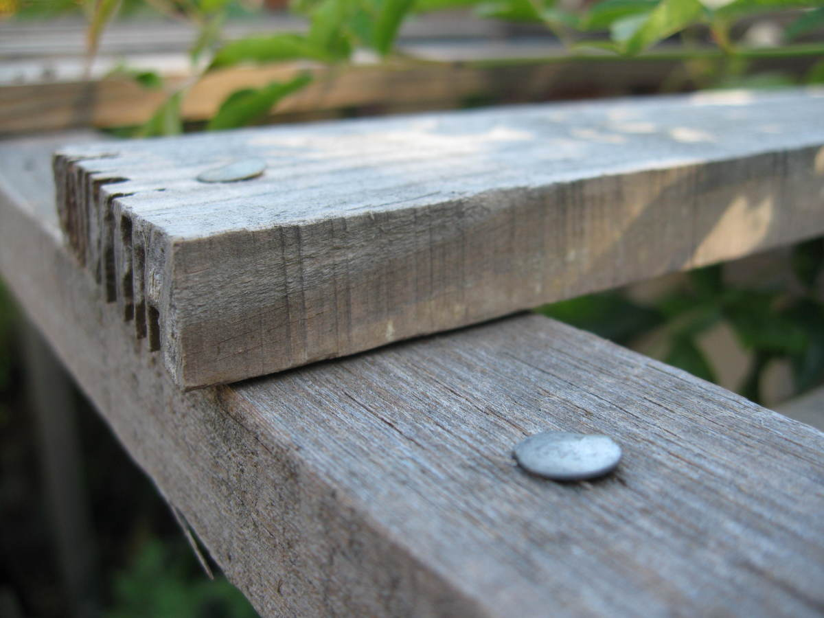 Make sure you use thick nails to build your trellis for your vertical garden.