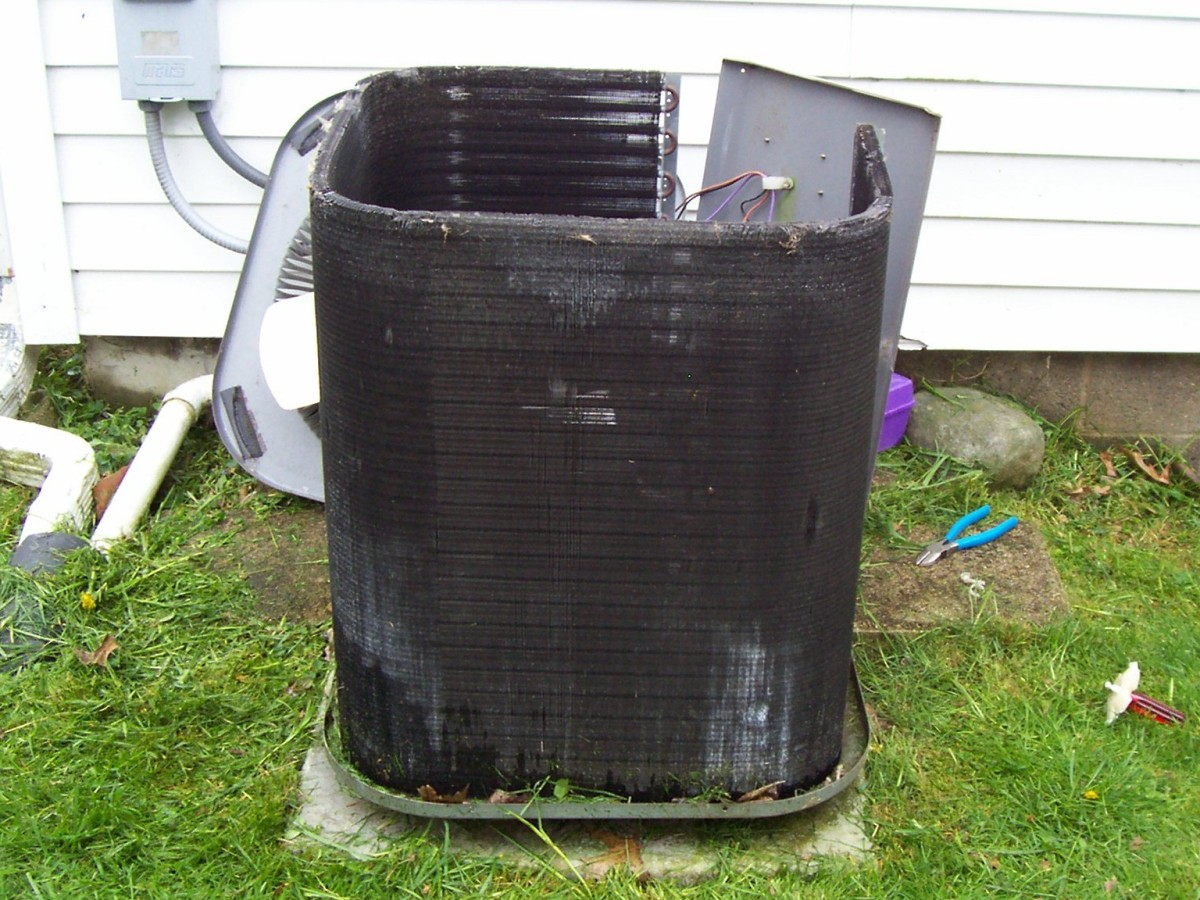 When the condenser is stripped down, it's really just a bunch of coils and fins that are typically referred to as the condenser coils.