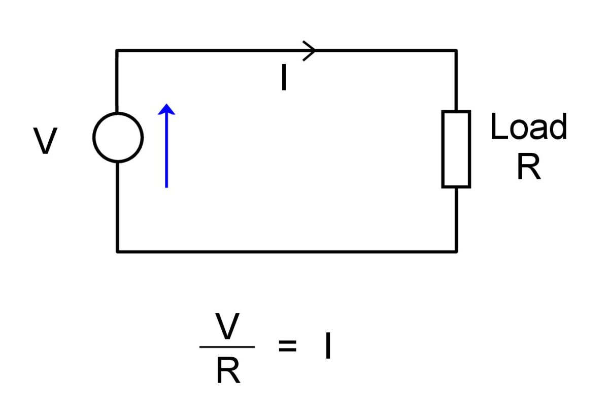 Schematic of a simple circuit.