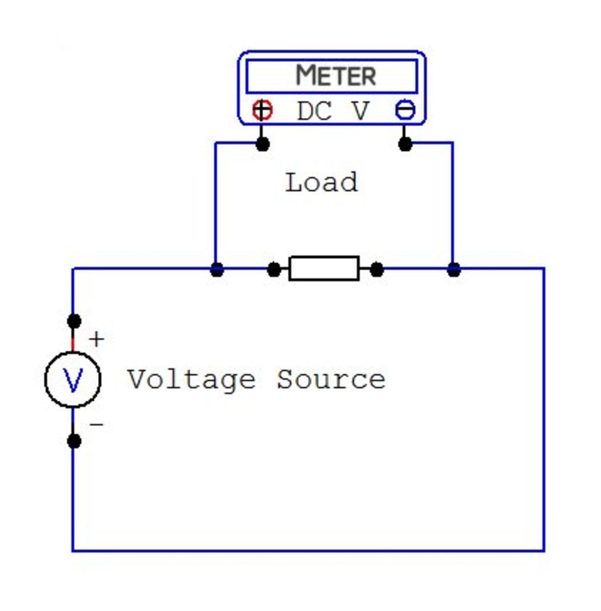 Dc Energy Meter Circuit Diagram | How To Use A Multimeter To Measure Voltage Current And Resistance