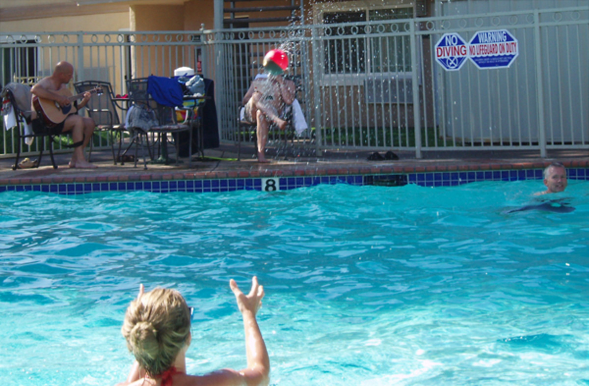 Playing Ball in a Chlorine Pool