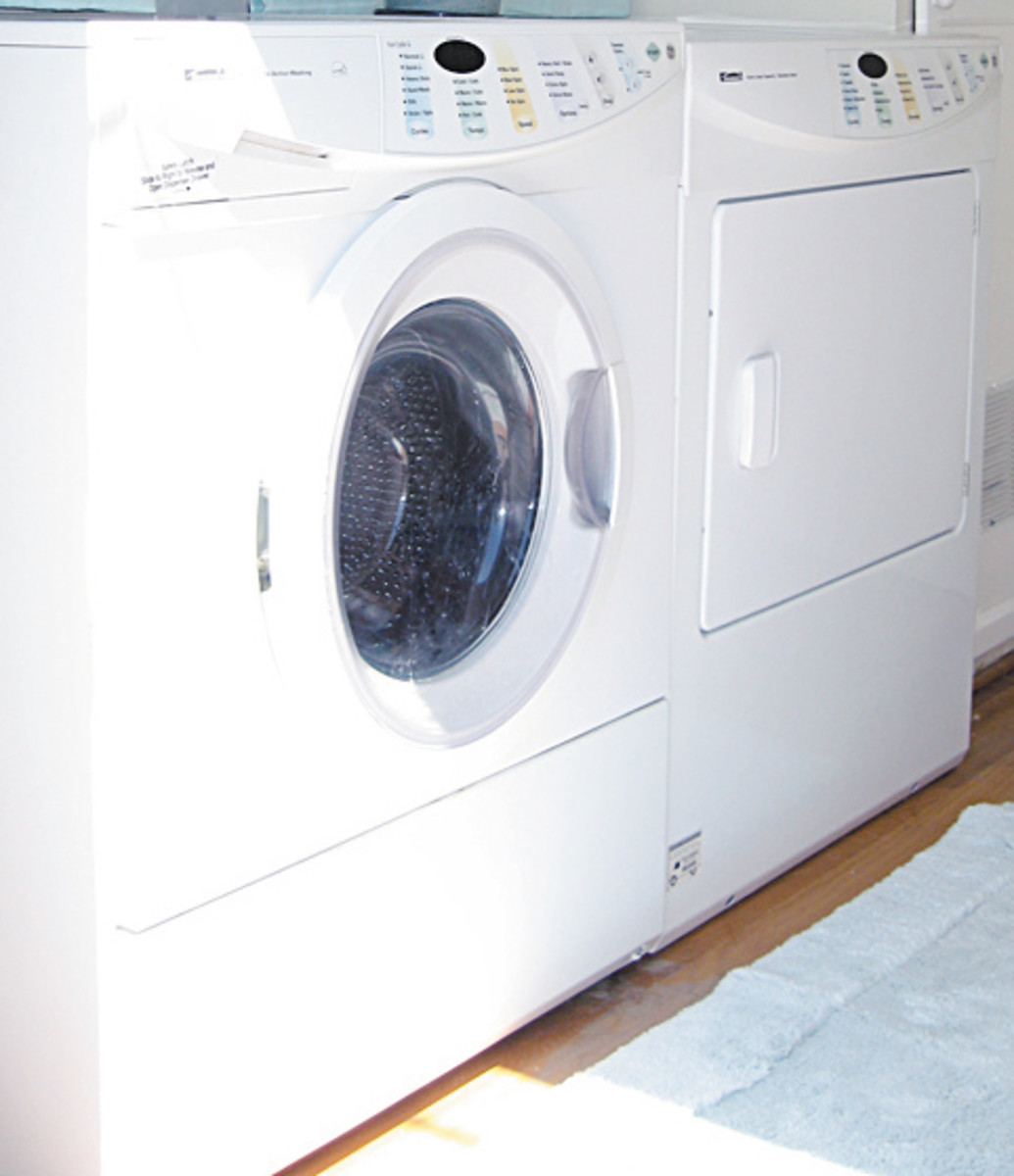 Adding a new washer and dryer will save time and lower your utility bill!
