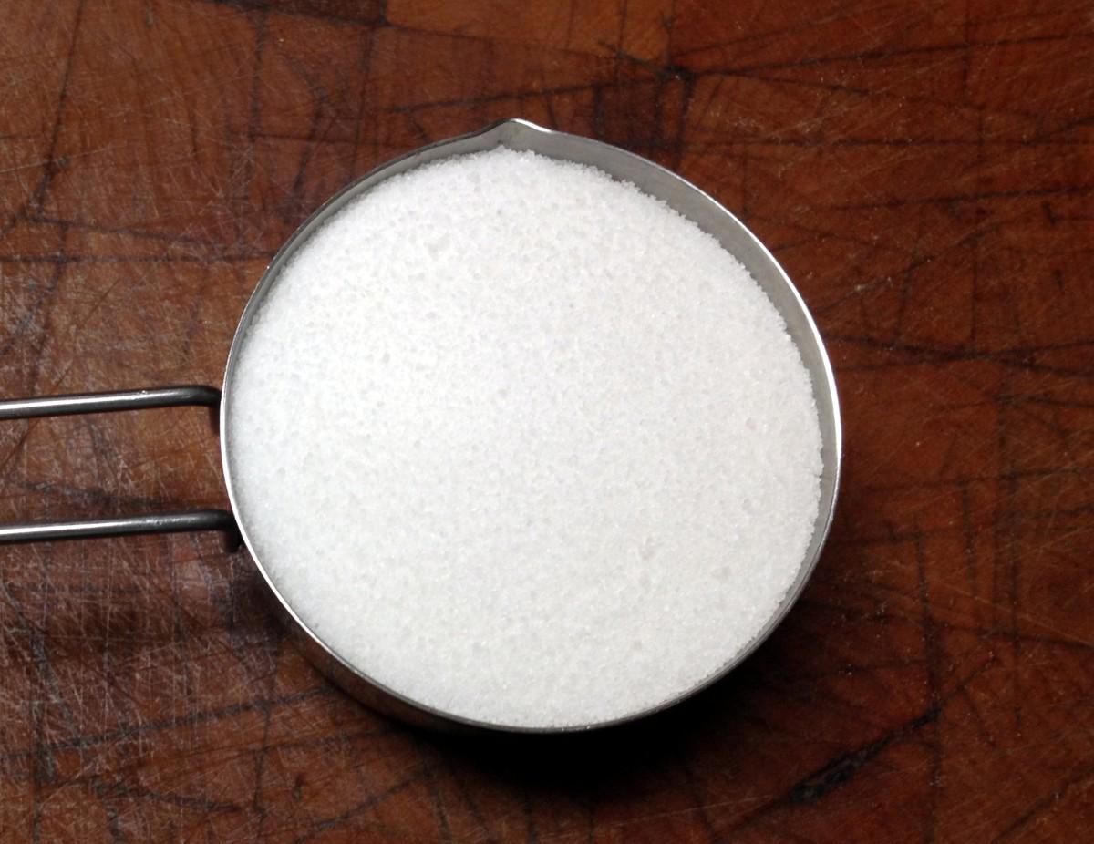 A half cup of sugar