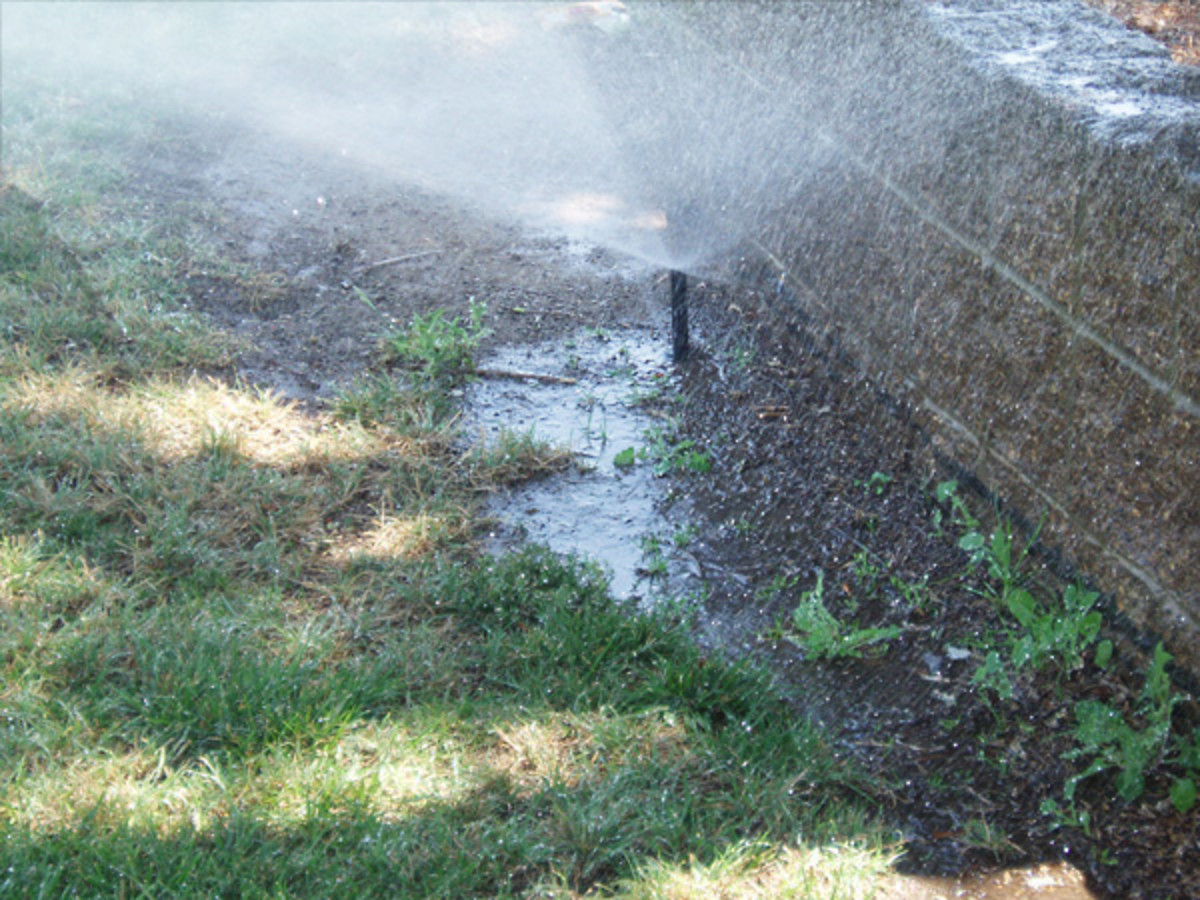 Irrigation leaks waste a lot of water, especially those underground that we can't see.