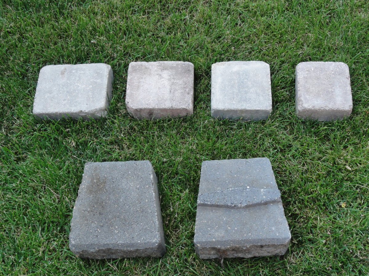 Tuscany pavers, stacking stones, and coping stones.