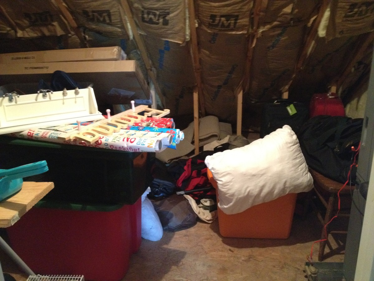 Decluttering Your Attic: BEFORE
