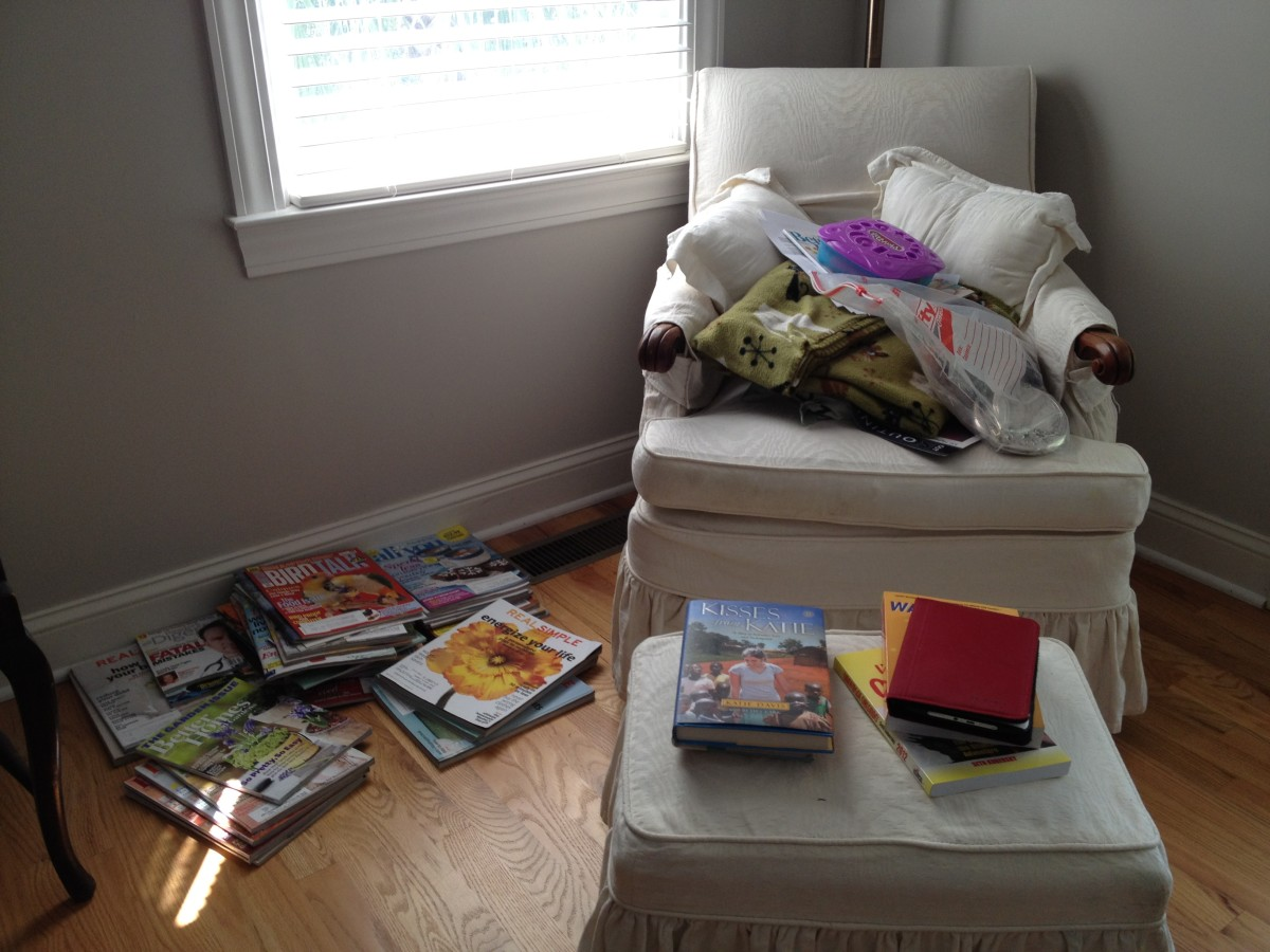 Organizing Magazines: BEFORE