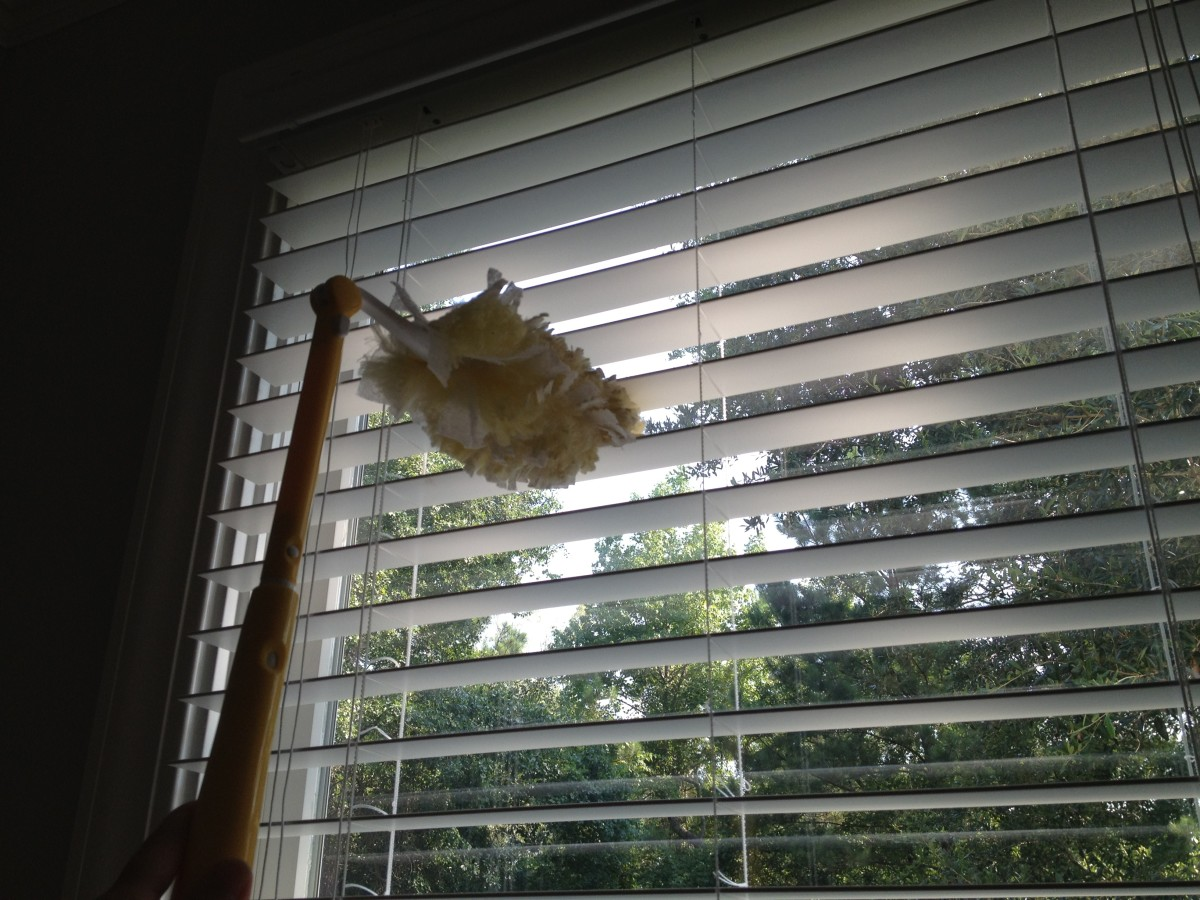 Swiffers are good for dusting blinds.