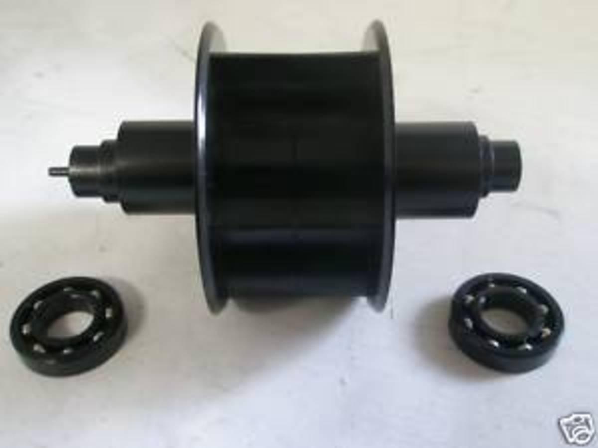 The turbine and bearings