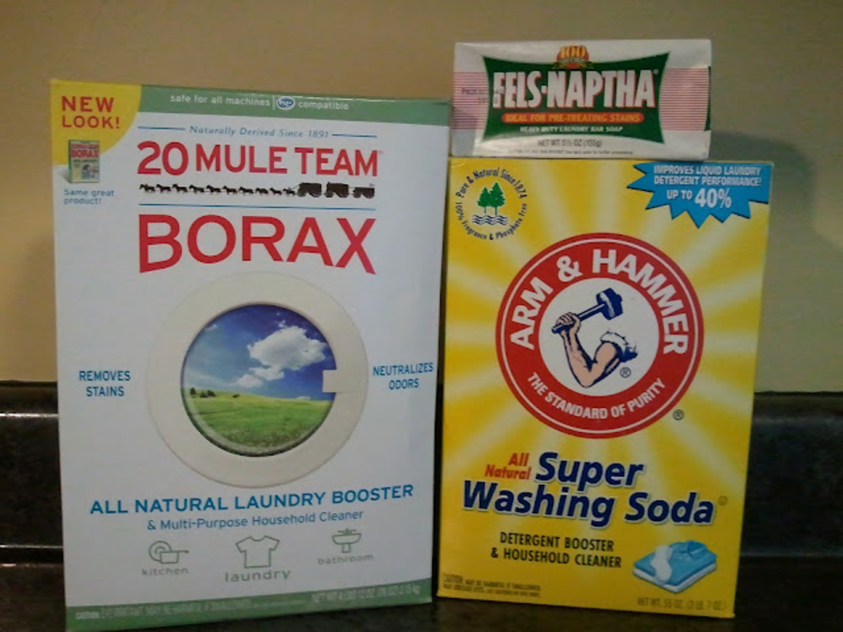 All you need to make homemade laundry detergent.