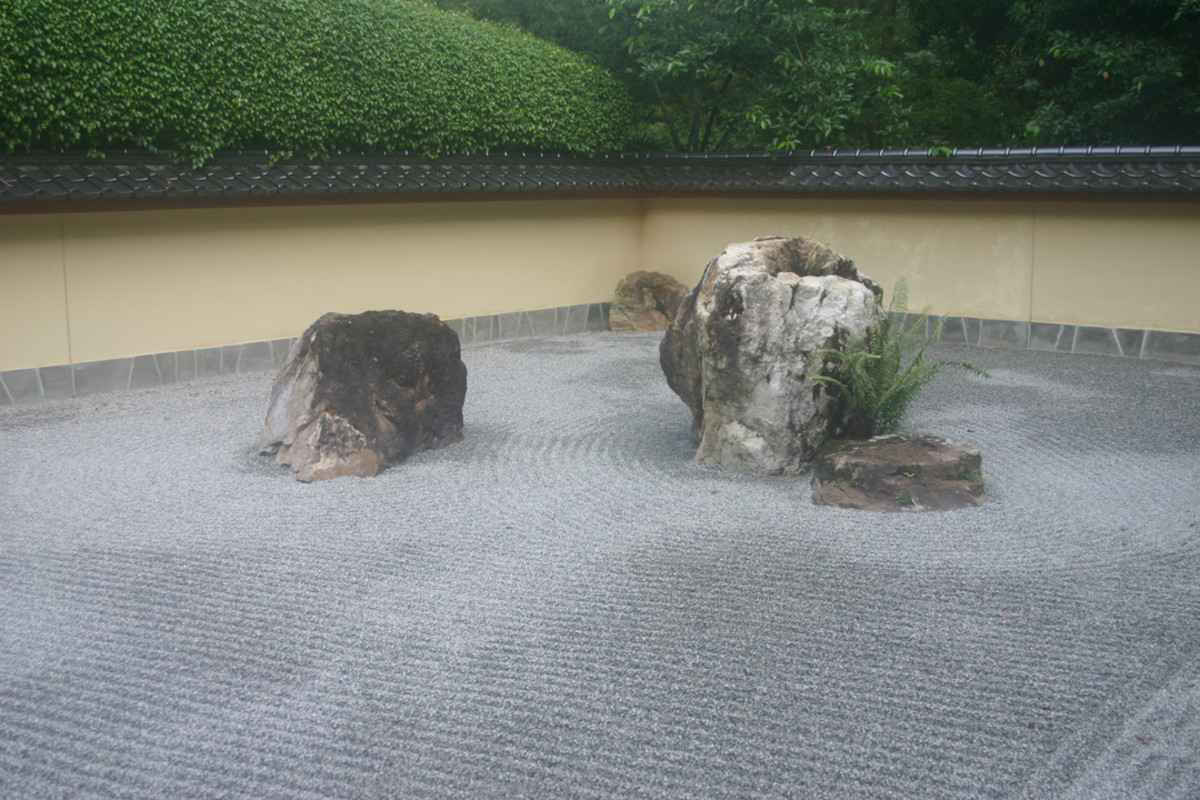 Samurai preferred the safe feeling of walled gardens.