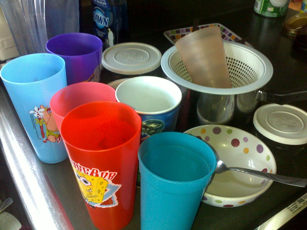 DON'T let dishes pile up.