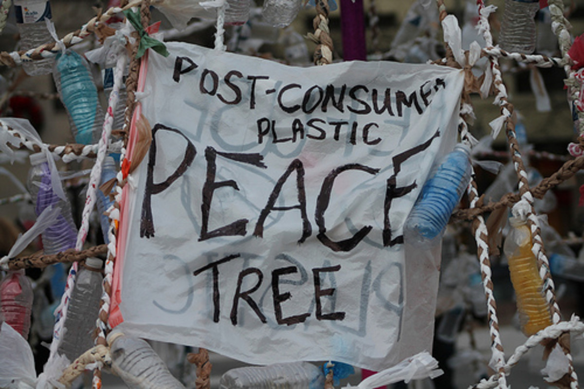 "You could make a ""peace tree"", however, a post-consumer plastic countertop makes much more sense!"