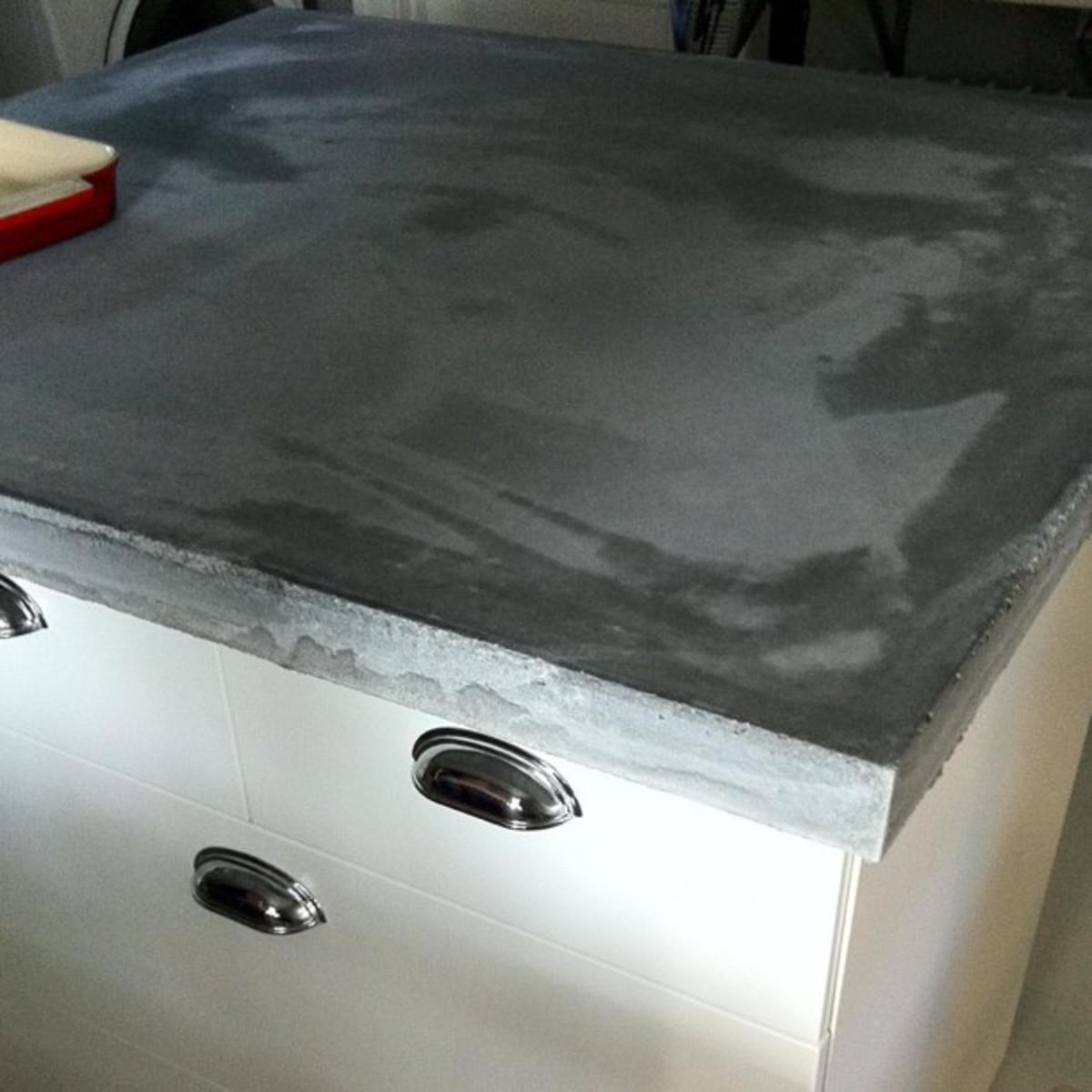Use an environmentally safe mix if you decide on concrete countertops.