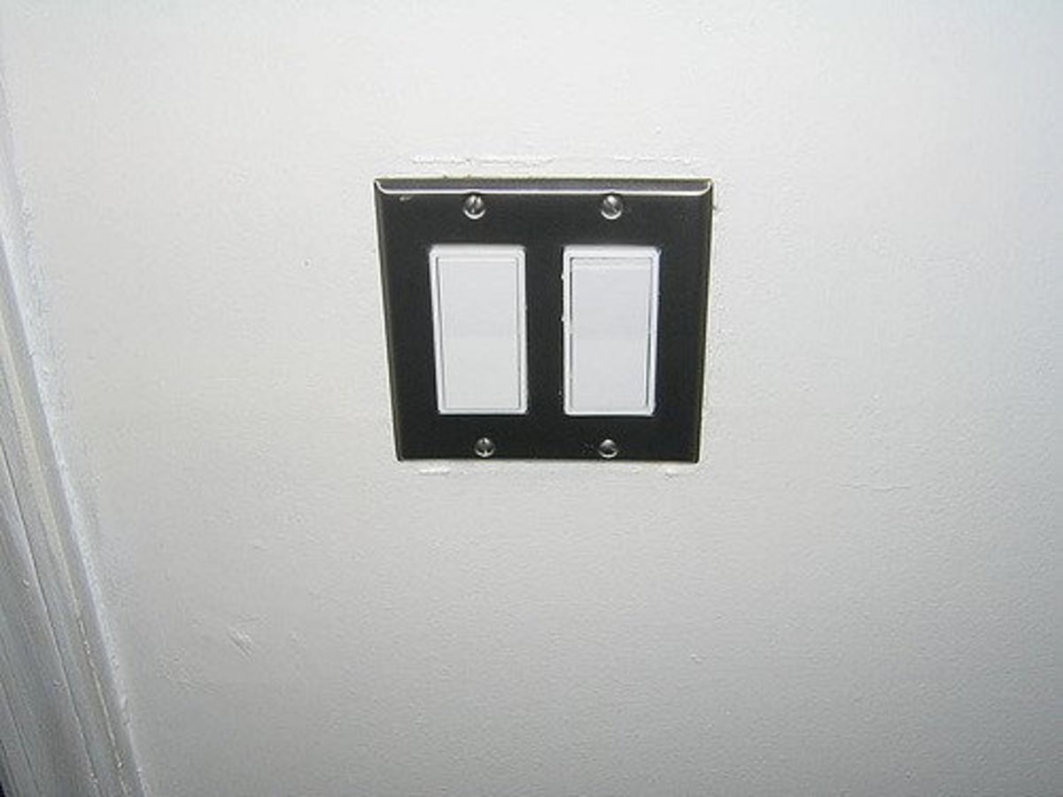 Rocker type light switch is easy if your are old and suffers from arthritis