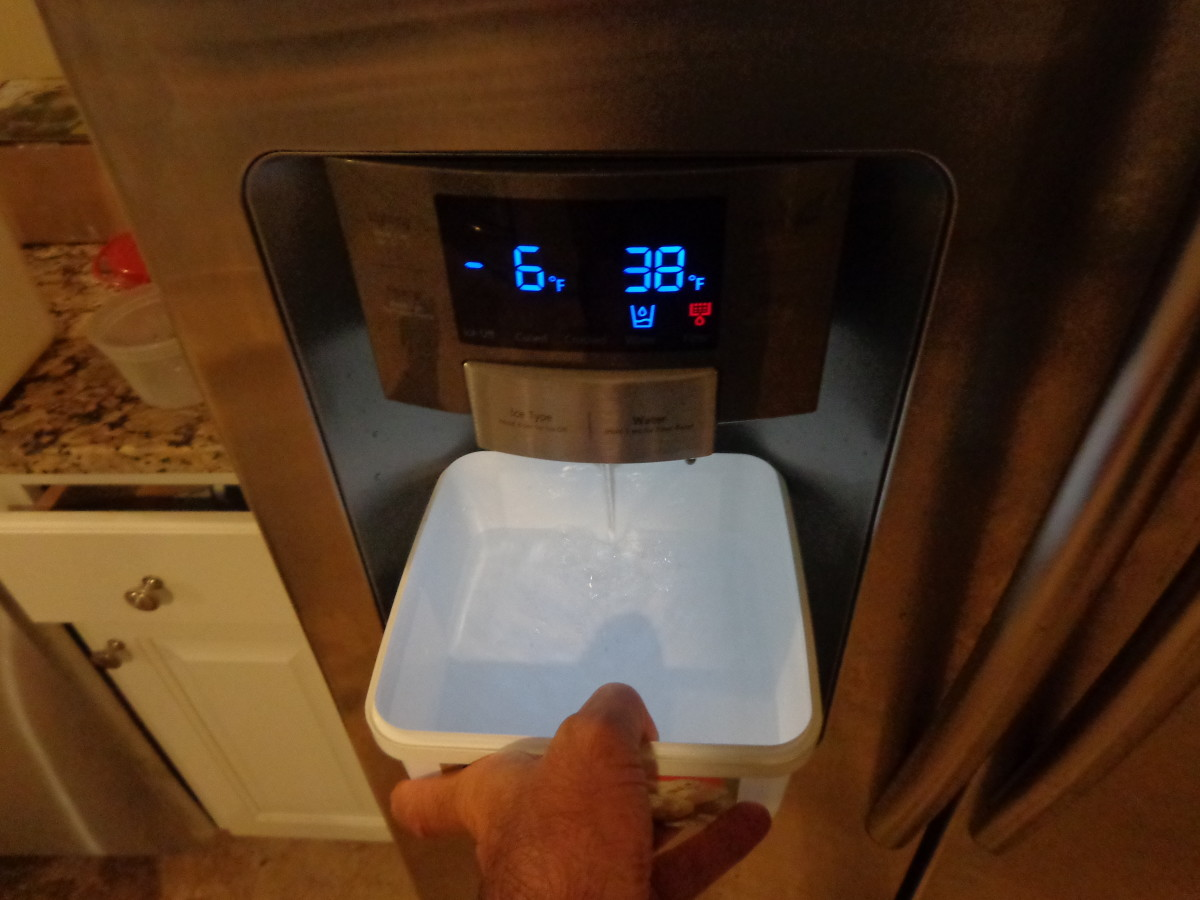 Let the water run for 30 seconds to remove air and impurities.