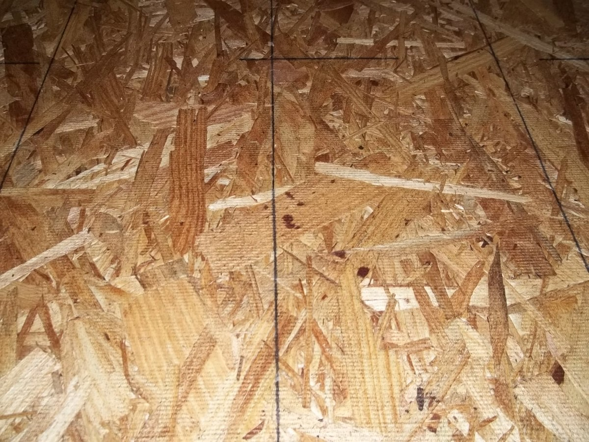 1/2 inch particle board.