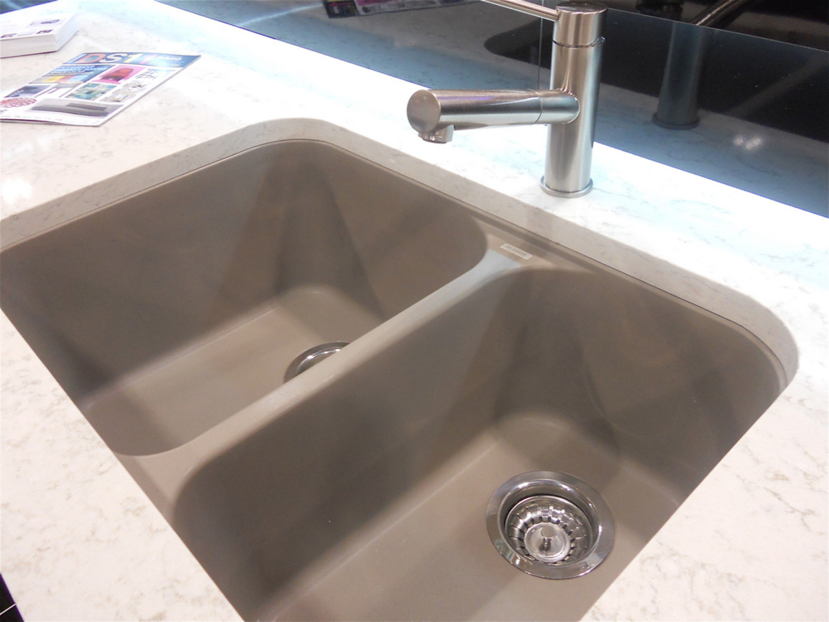 A composite granite sink is extremely easy to clean and hard to chip.