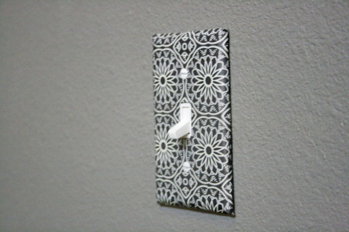 DIY decorative light switch plate