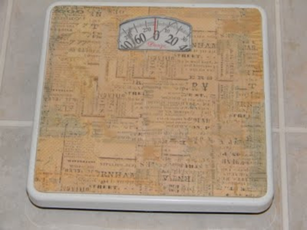 bathroom scales makeover