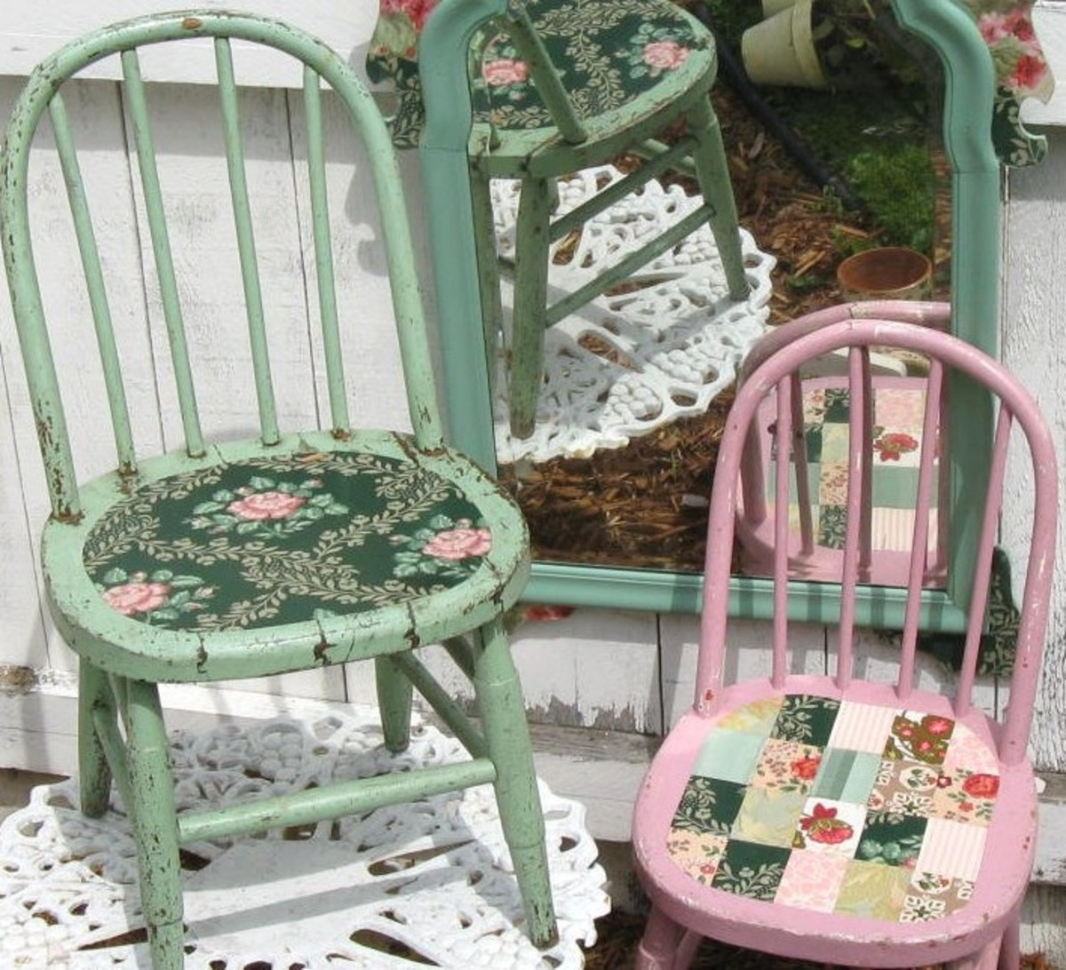 Patchwork seated chairs