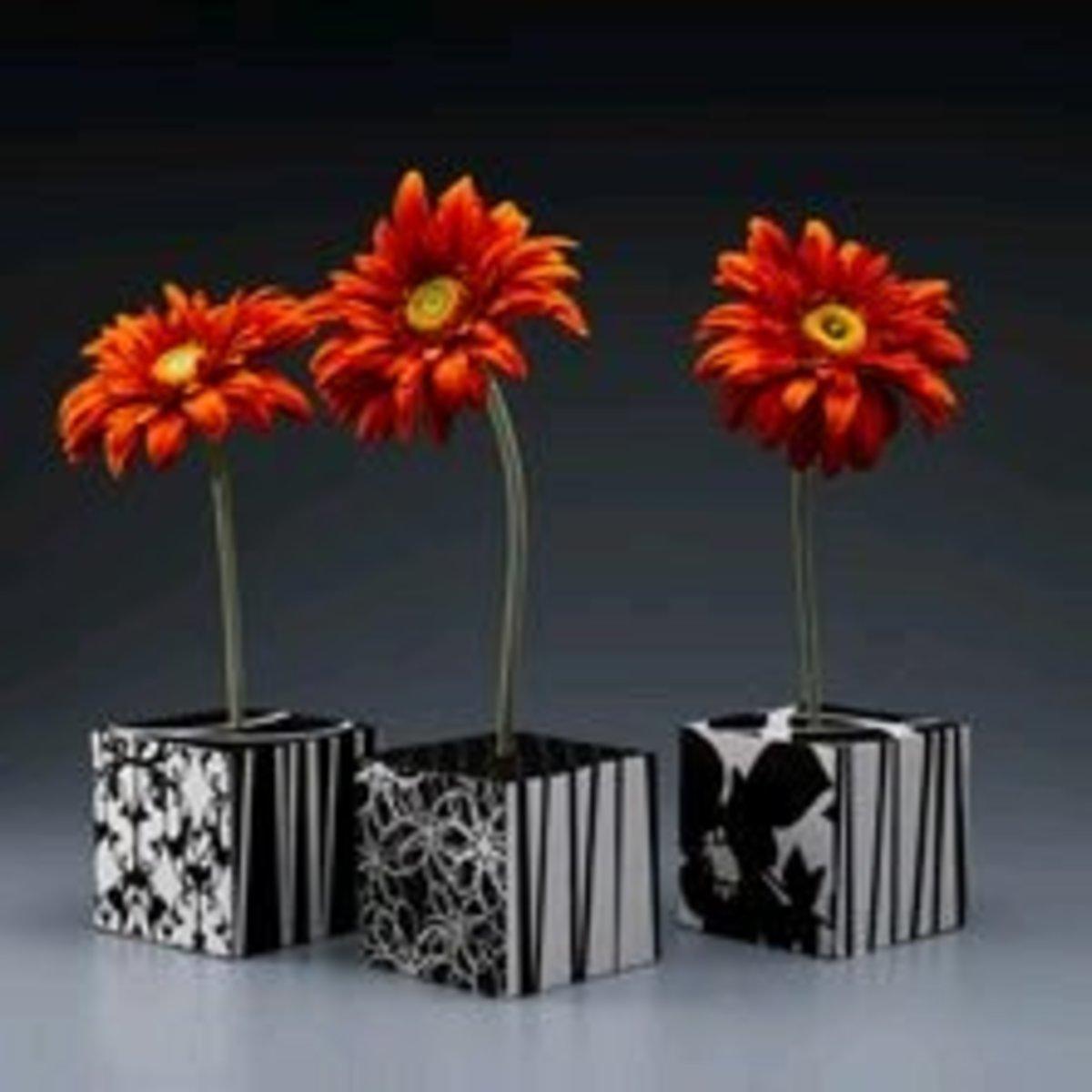 Decorative block flowers