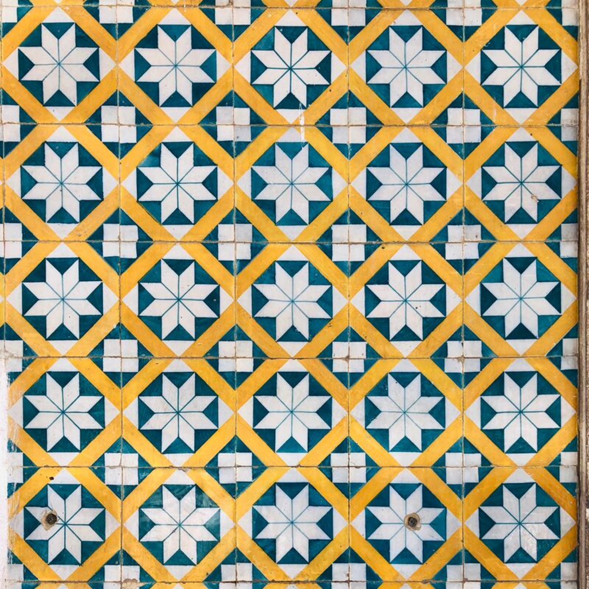 This colorful pattern could definitely be used to liven up a dull or unstimulating room.