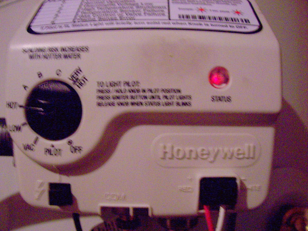 This blinking red light on your control module can help you determine problems with your water heater based on the code chart above it.