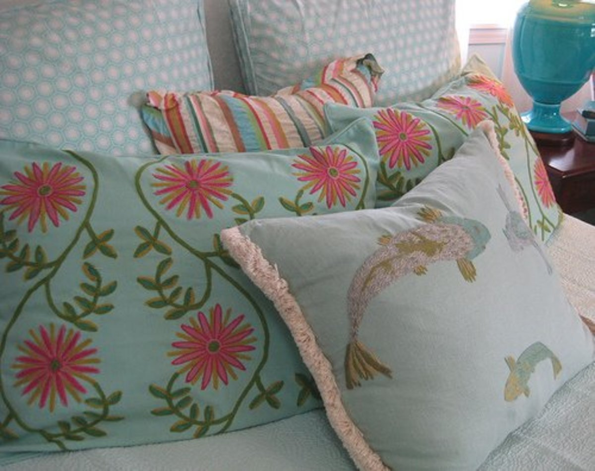 Accent pillows add color and personality to your bedroom..