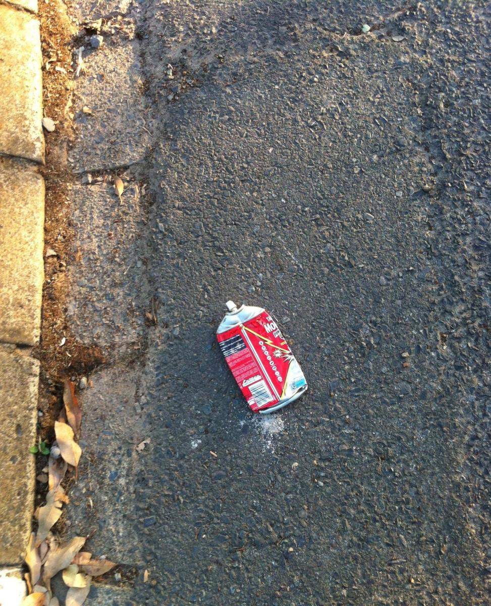 Be aware of litter outside your house. It may serve a purpose other than pollution.