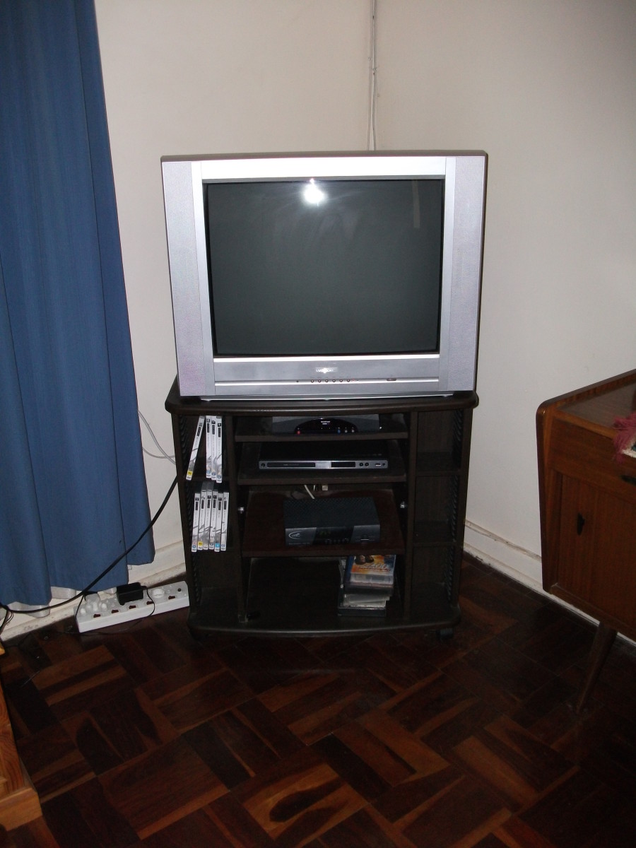 Some people leave their TVs on when not at home.
