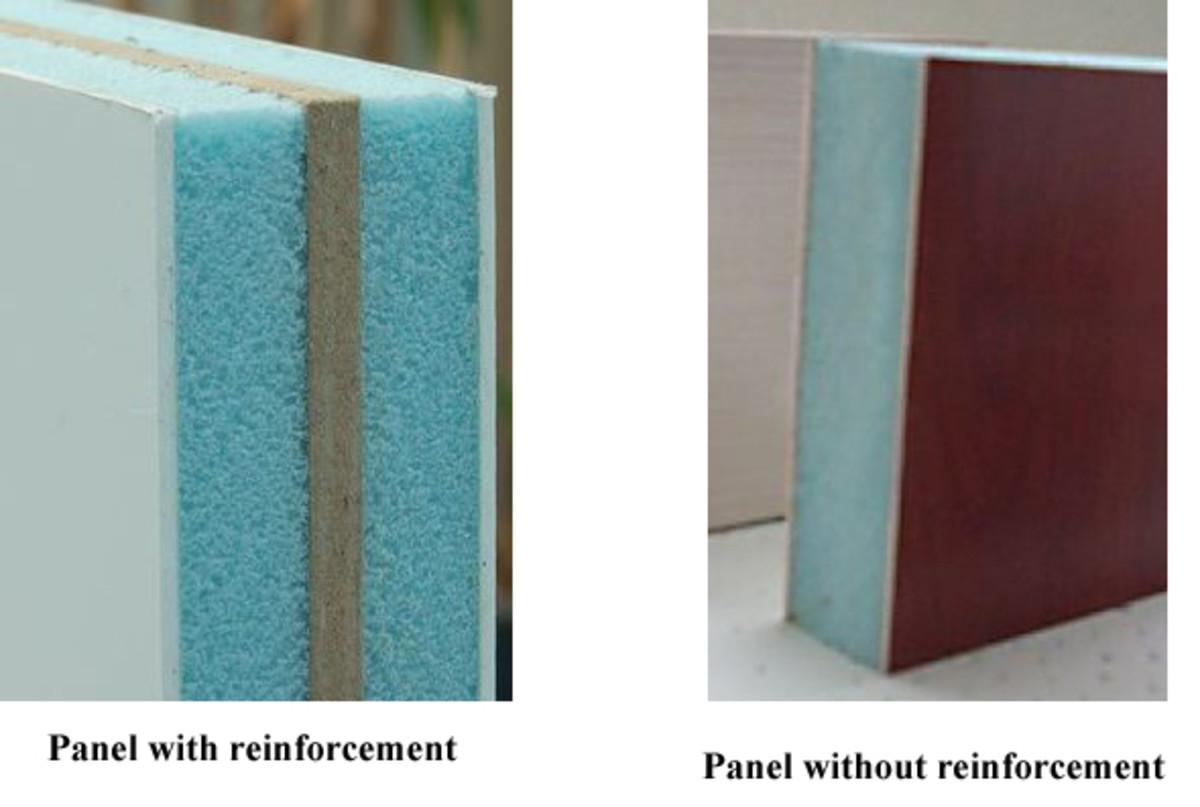 Two types of pvc door panels. A lot of pvc door panels can now be double reinforced