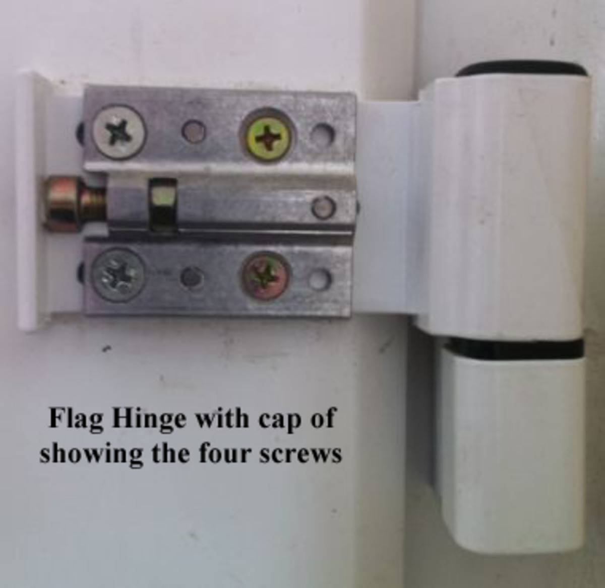 PVC Door flag hinge with the cap clipped of