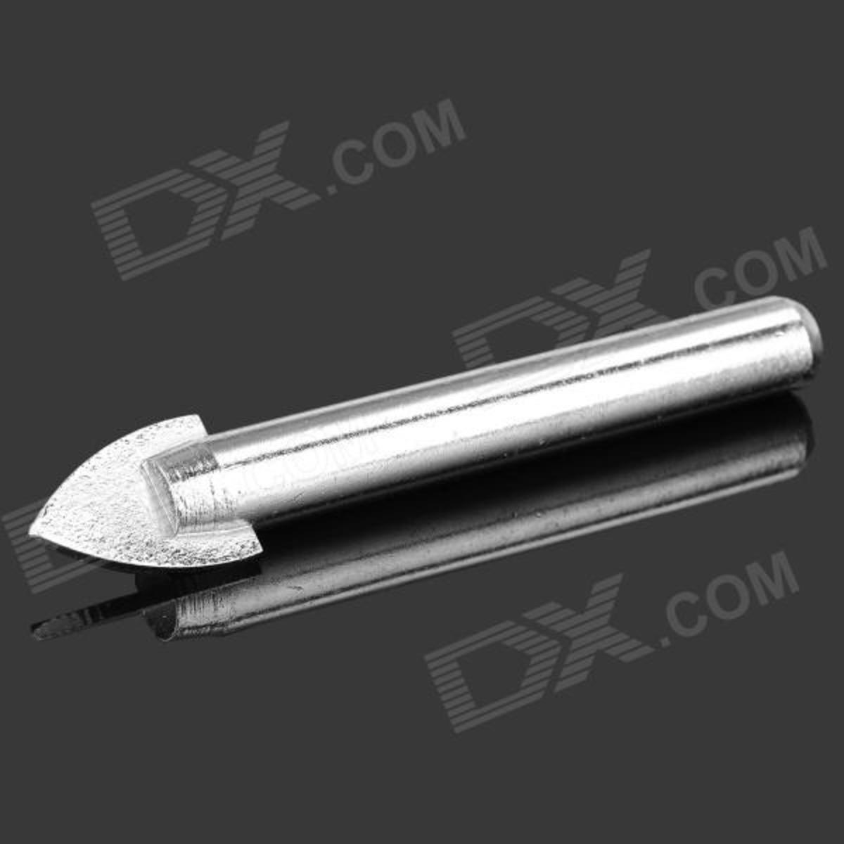Spear point glass drill bit