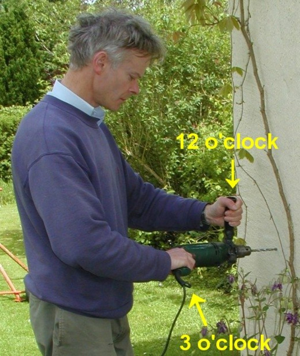 Holding a power drill correctly