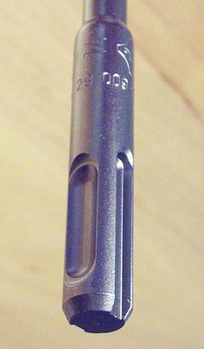 Shank of an SDS drill bit