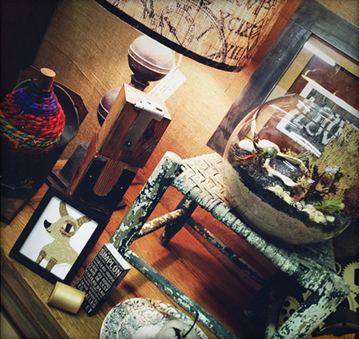 Decide which direction you want your rustic interior to take and have fun accessorizing.