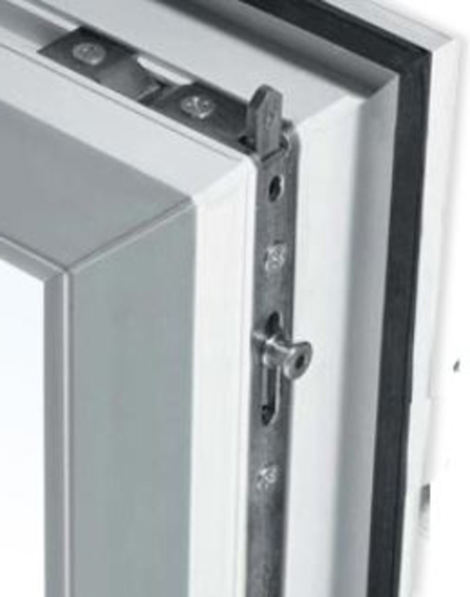 pvc window shoot bolt locking system