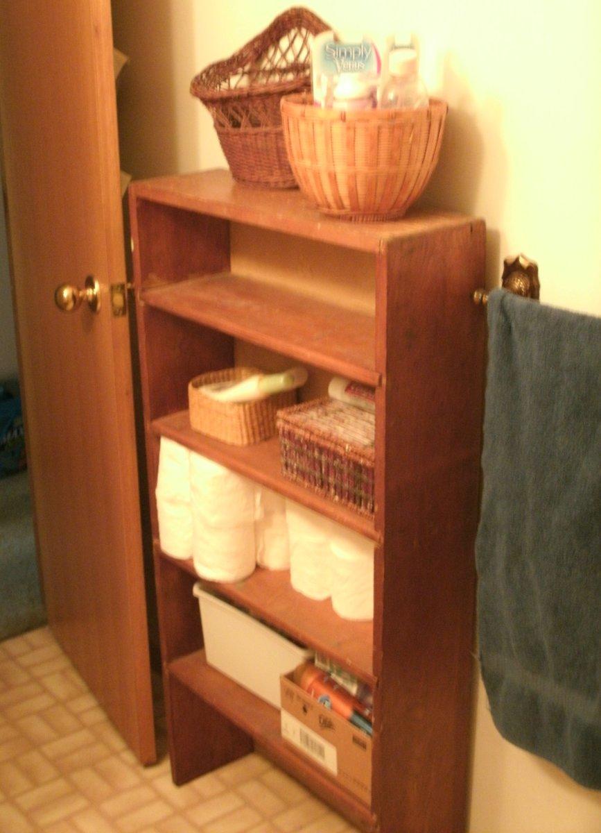 A skinny shelf.