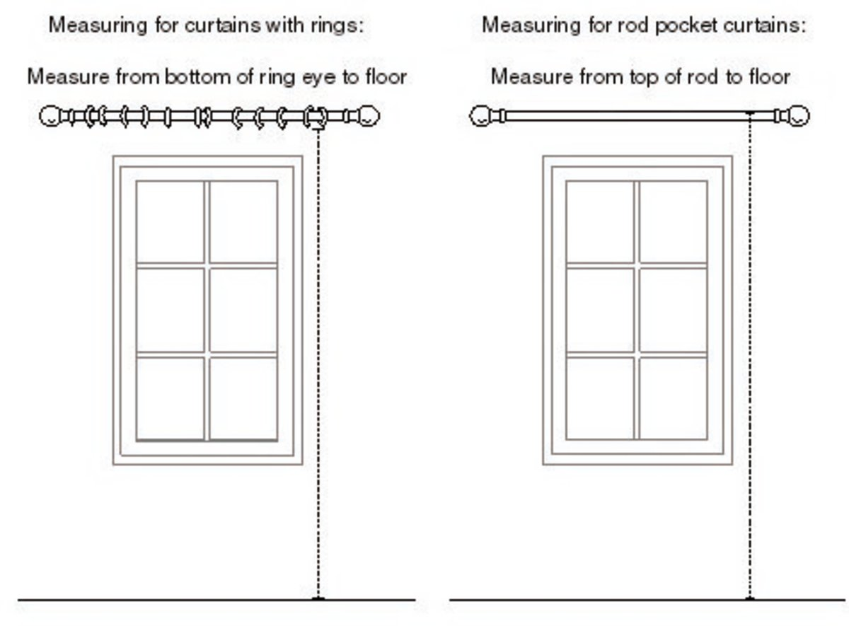 There are different ways to measure for curtains based on their heading style.