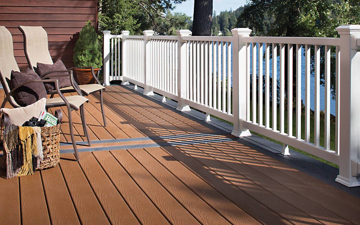 Wood/plastic composite materials are a great choice for decks.