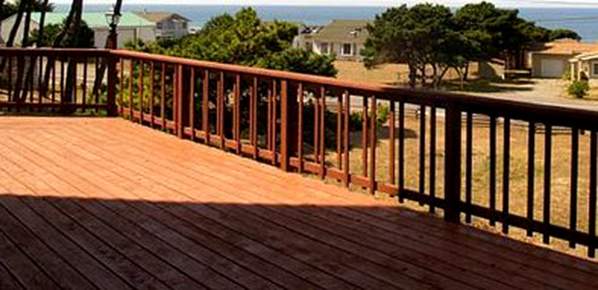 There's no mistaking the beautiful color of a redwood deck.