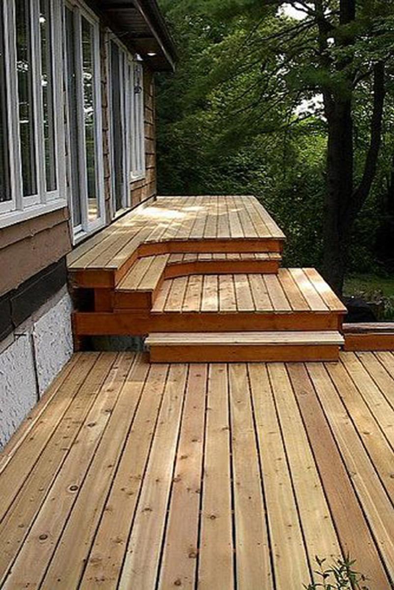 Brand new cedar deck.