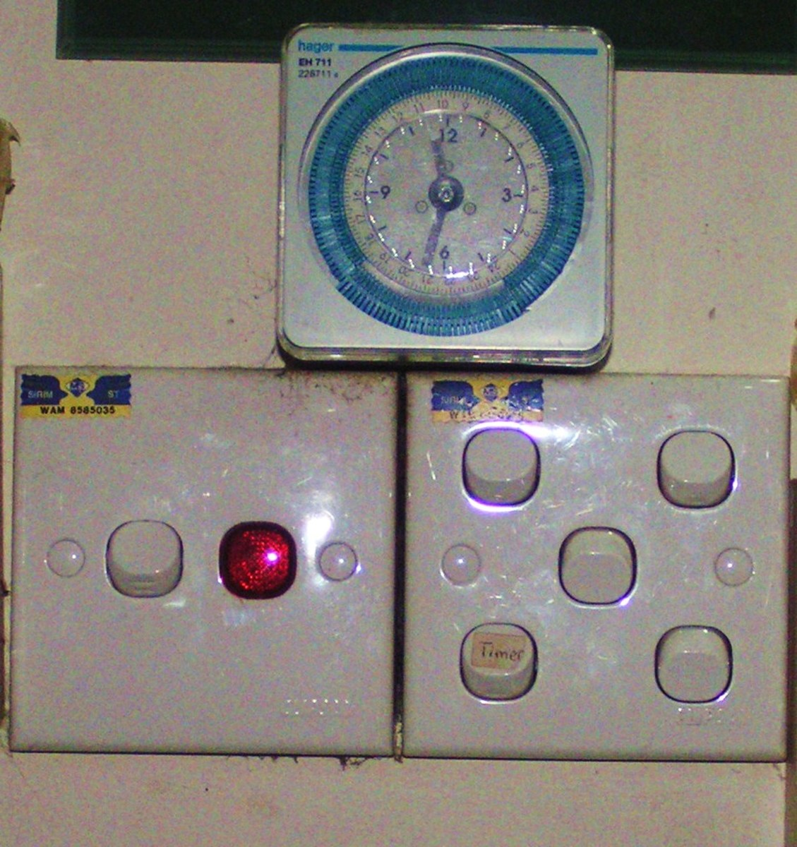 Timer switch in my home.