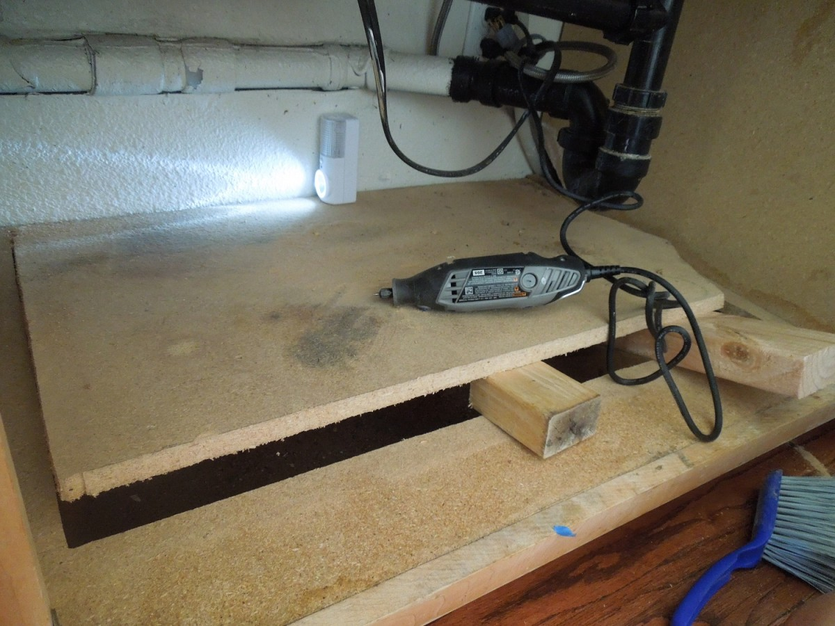 Cut Off Rotted Wood Under A Sink
