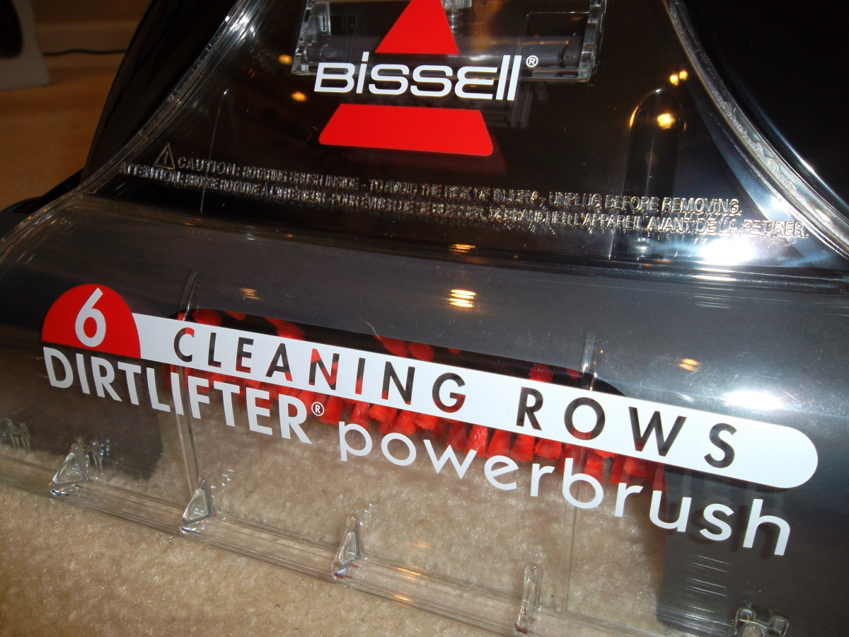 The Bissell PowerBrush helps clean deep into carpets.