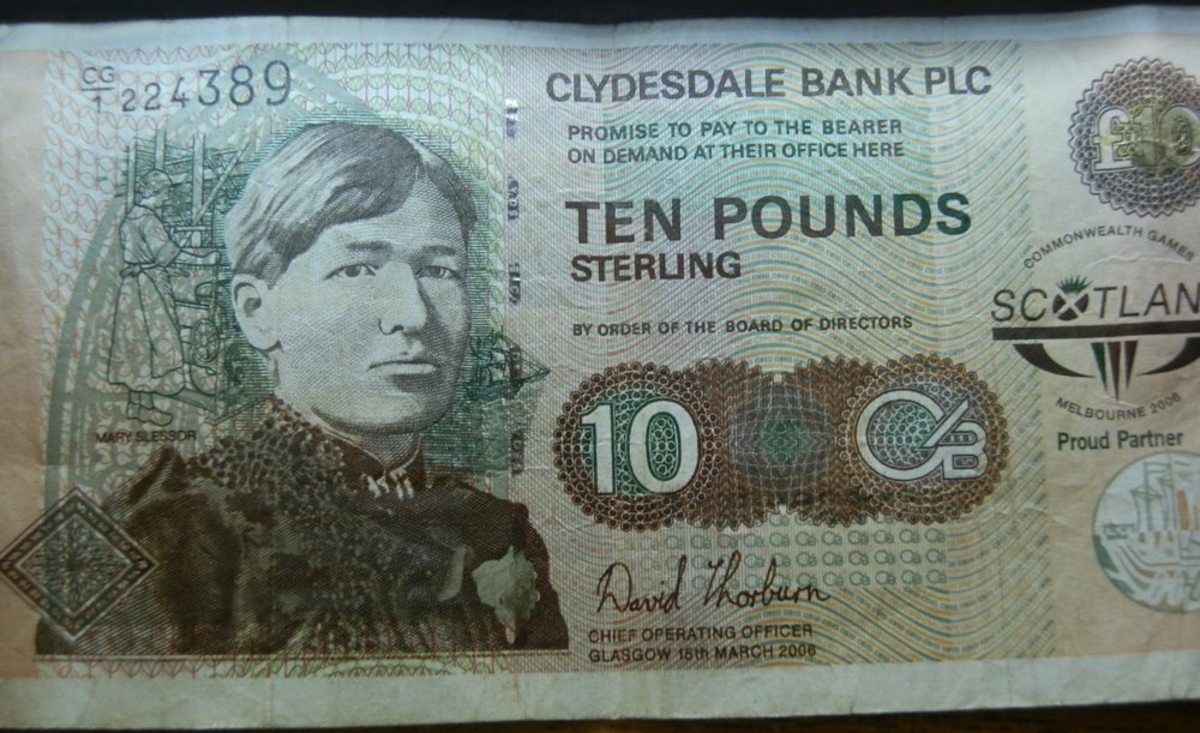£10 note (Clydesdale Bank)